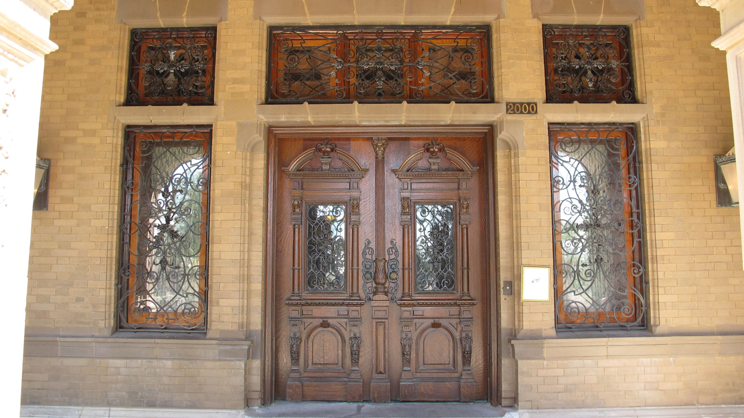 Pabst Mansion, Gilded Age Entrance - Pella Windows & Doors of Wisconsin