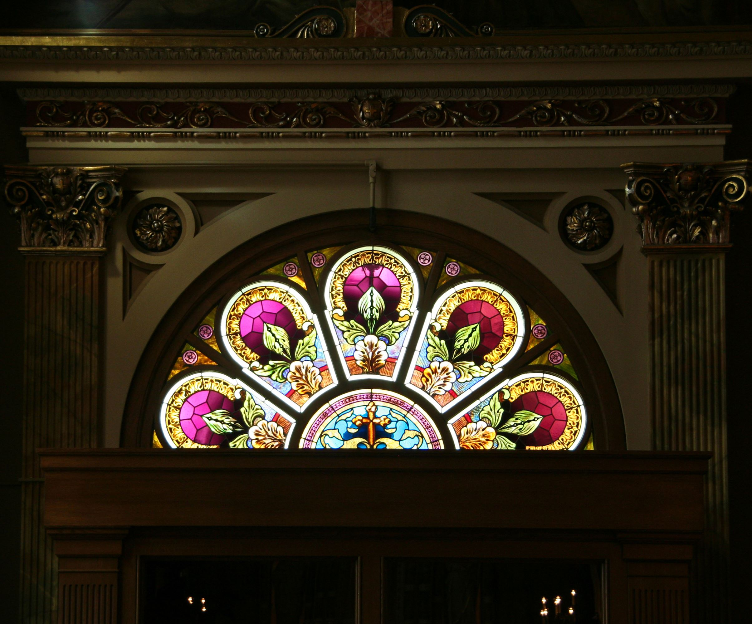 Half Circle Stained Glass Window - Presented by Pella Windows & Doors of Wisconsin
