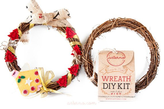 DIY wreath Kit from Etsy