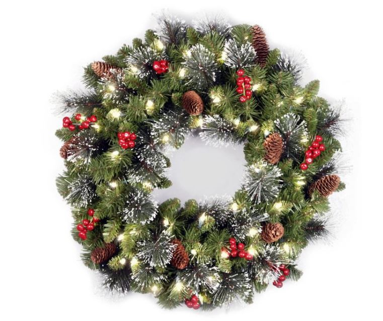 holiday wreath from bed bath and beyond