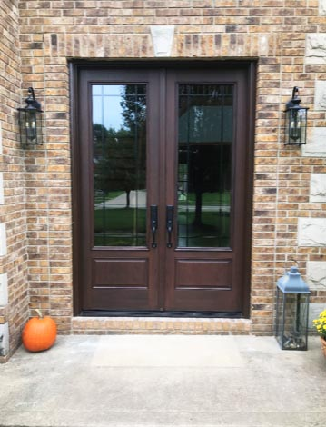 Pella Fiberglass Double Door Entryway