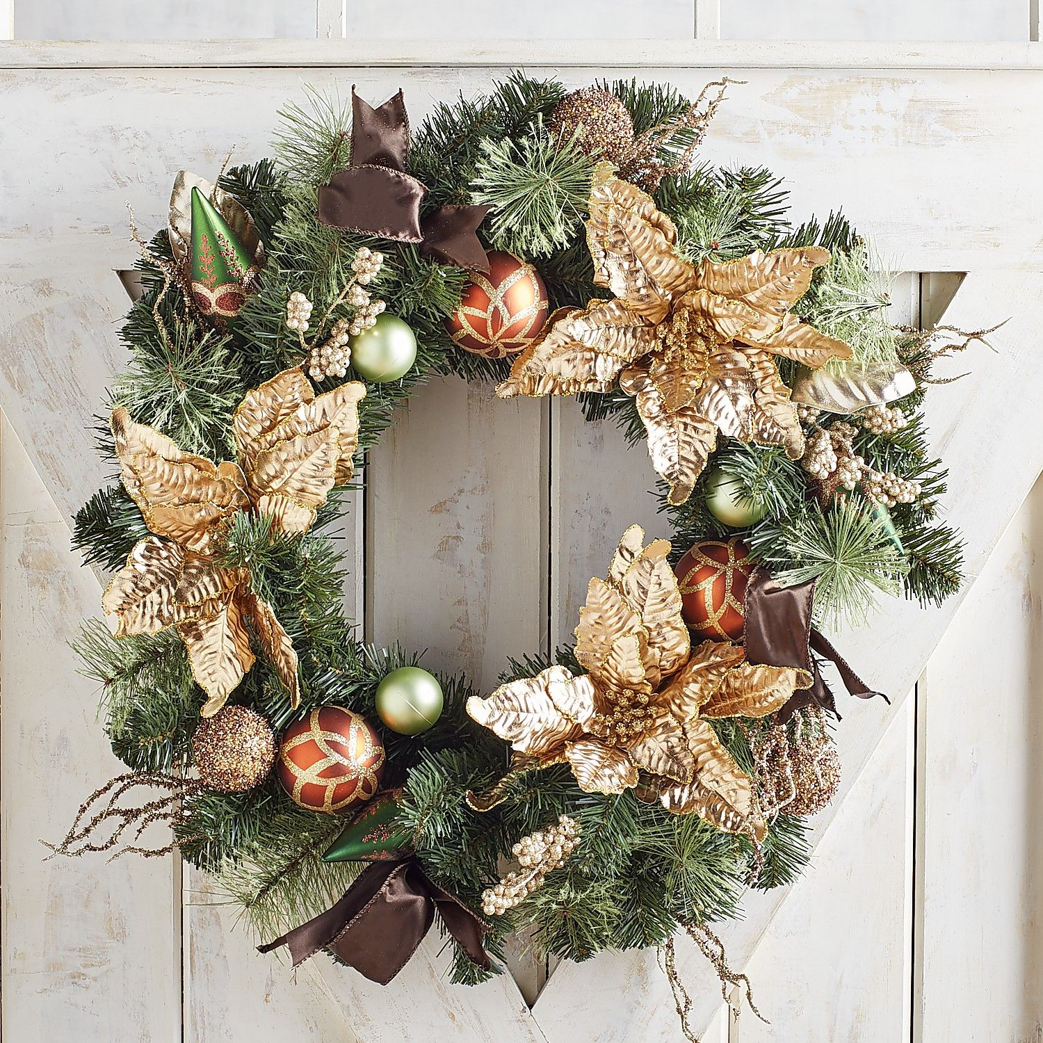 Gold and green wreath from Pier One