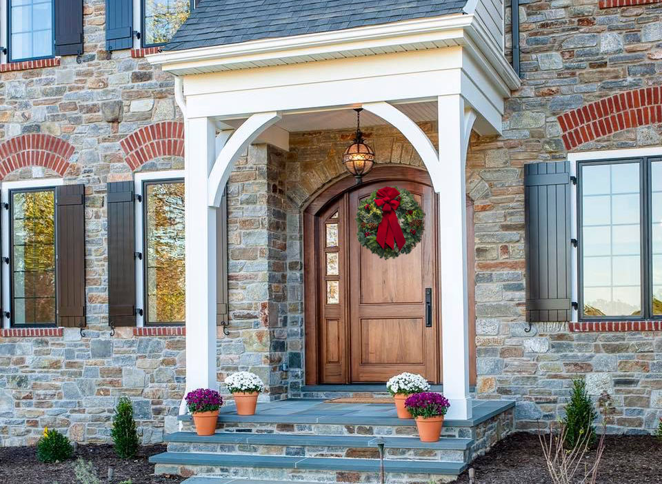 The Perfect Holiday Wreath for Your Pella Door