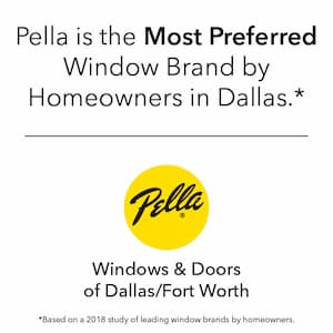 Pella Dallas is Preferred Window Brand
