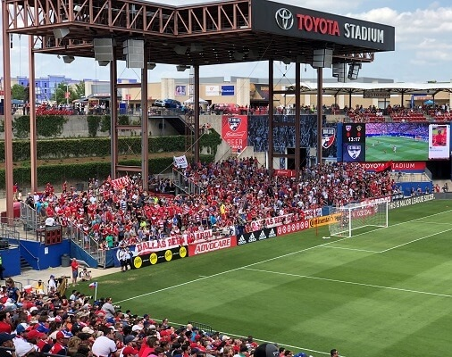 toyota stadium during FC Dallas soccer game
