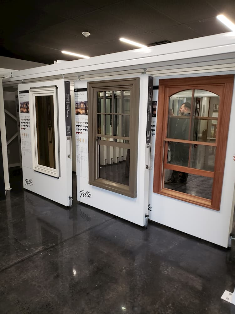 Windows and doors on display at the Pella Red Bank Experience Center