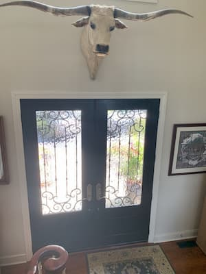 Custom Navy Blue Entry Door