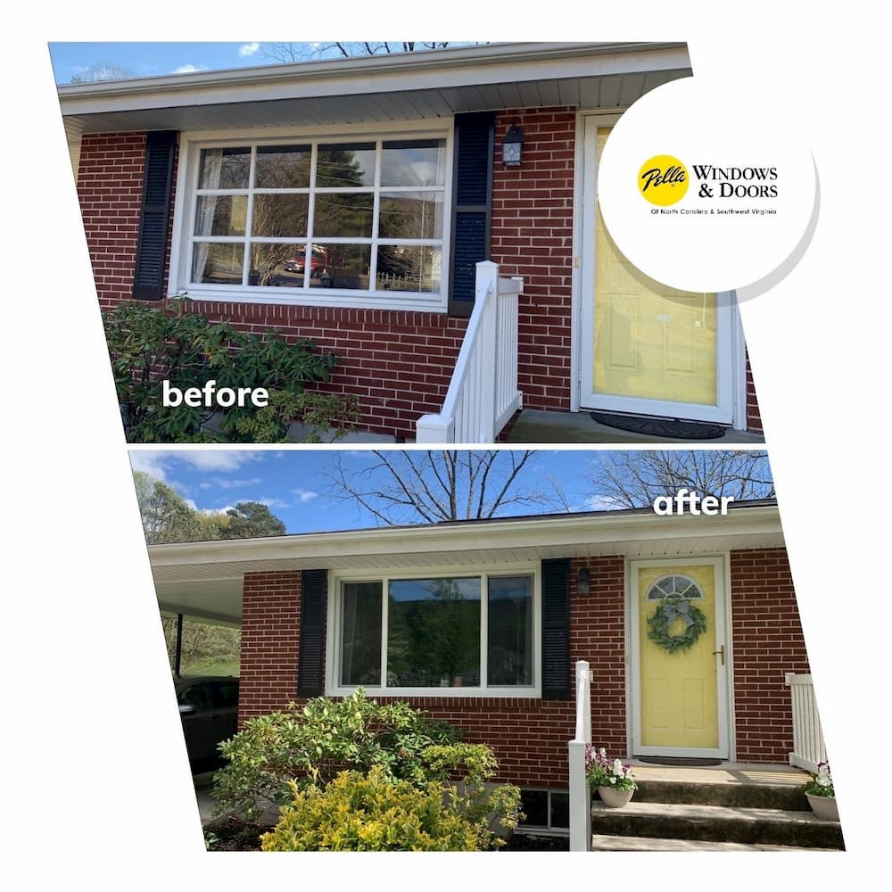 vinyl windows before and after