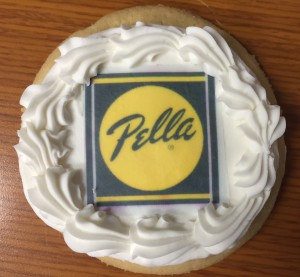 Pella branded cookies to celebrate