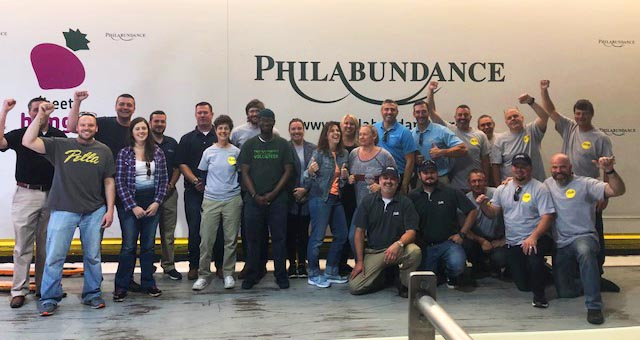 Pella and Philabundance: Sorting and Packing Food at the Philabundance Hunger Relief Center