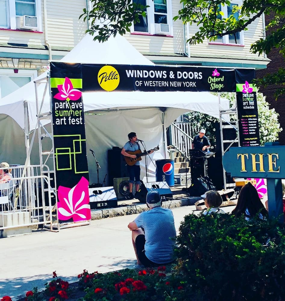 Music stage sponsored by Pella at Rochester Arts Festival