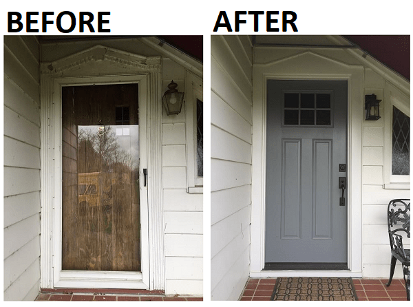 Replacing A Wood Door With Fiberglass Front Entry