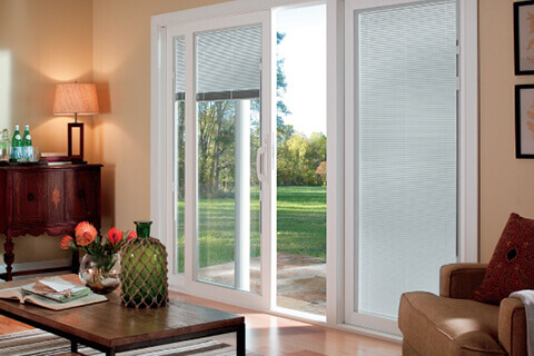 Advantages of built-in blinds - no slamming