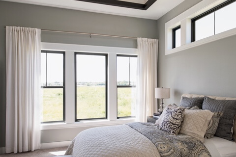 Black Window Frames With White Trim