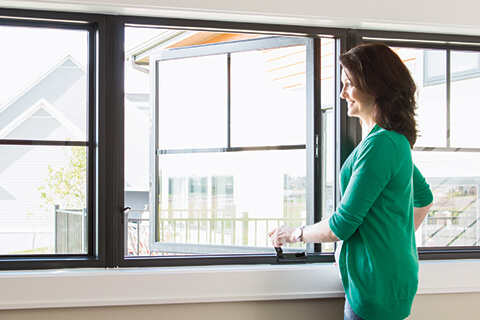Casement windows let the air in