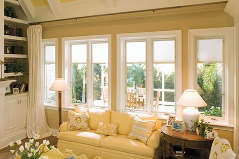 Casement window in living room