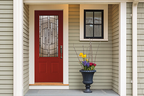 Compare door materials pella branch blog - Steel vs fiberglass exterior door ...