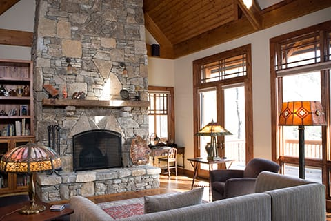 Adding natural elements to achieve craftsman style