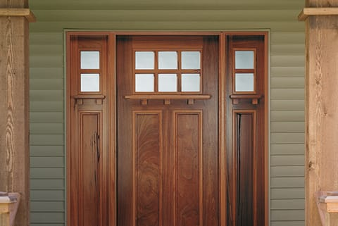 Replace your front entry door with a craftsman look