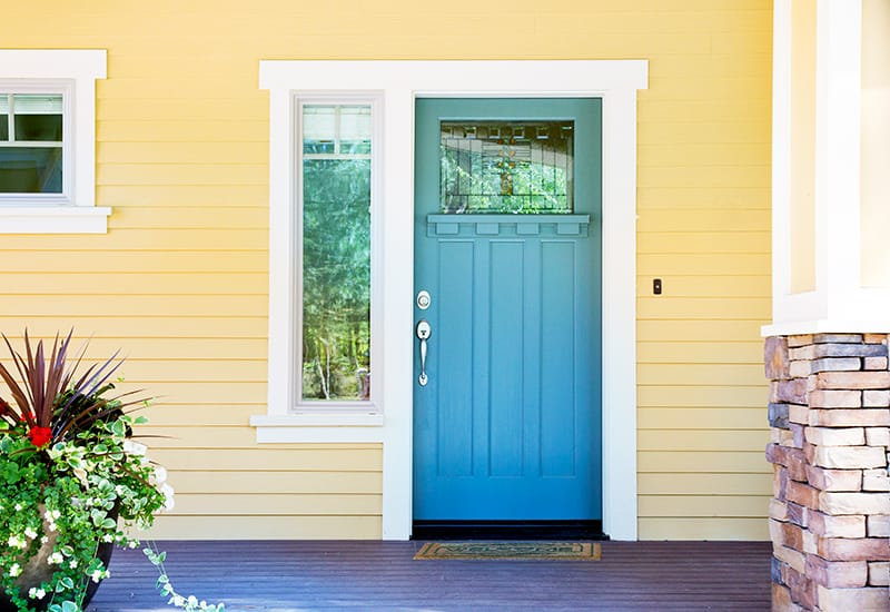 Astonishing What Color Front Door Goes With A Yellow House
