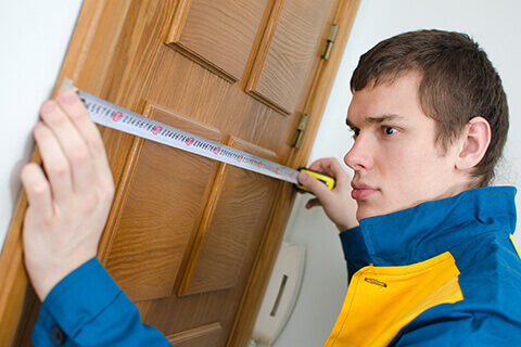 Measure the width of the door jamb