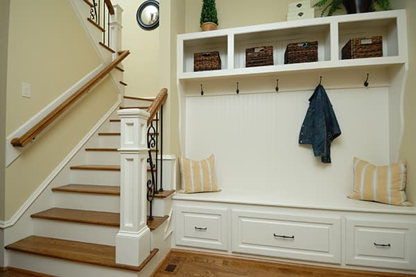 Mount hooks to keep entryway organized