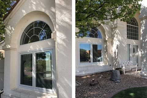 Window replacement in stucco