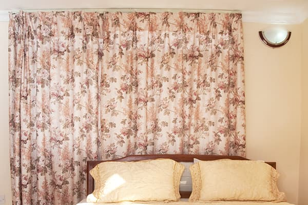 Decorating trends that are out - dated floral drapery
