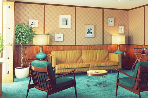 Wood paneling dates a house