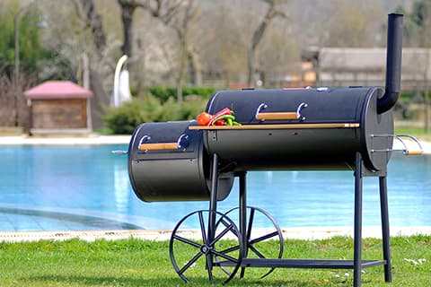 Outdoor kitchen ideas - smoker