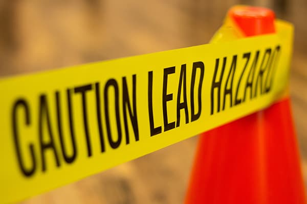 Lead hazard caution tape