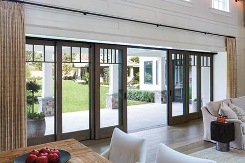 Exterior glass walls