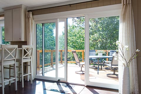Patio doors for small outdoor areas