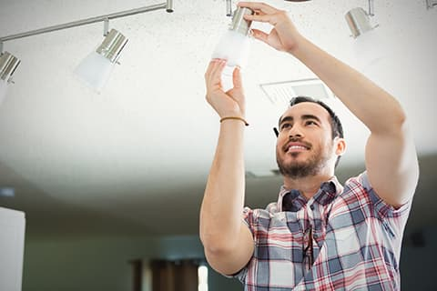 Spring cleaning list - replace lightbulbs