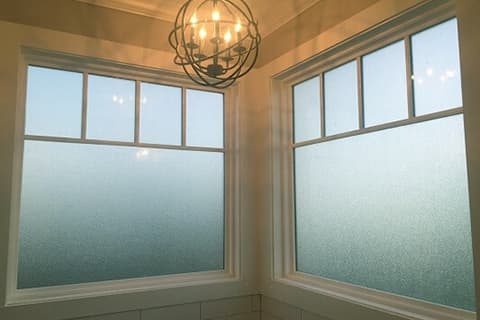 Privacy Glass for a Bathroom