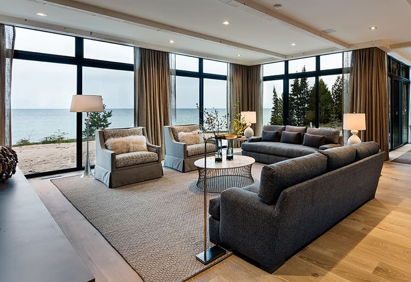 Large floor to ceiling windows