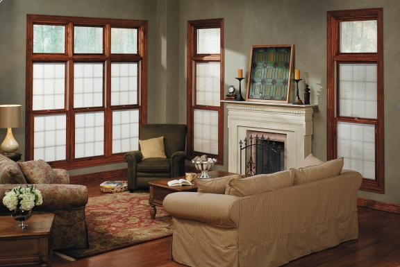 Pella Windows with Grilles and Window Treatments