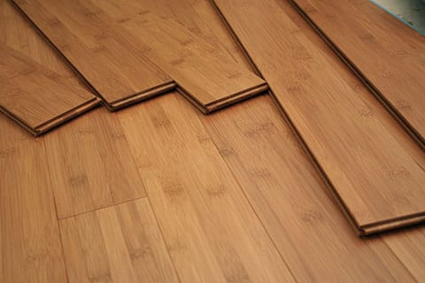 Bamboo flooring planks on top of bamboo floor