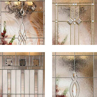 Front entry door types options to make your entry unique for Decorative window glass types