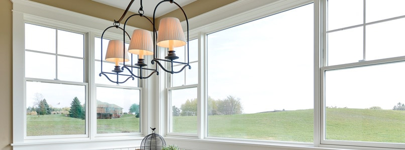 Pella windows in a dining room
