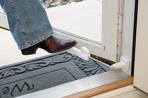 Storm door features and hardware