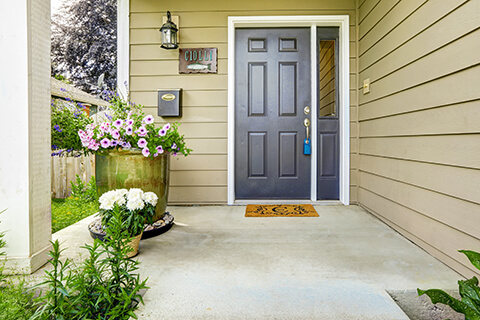 Add planters to your new door