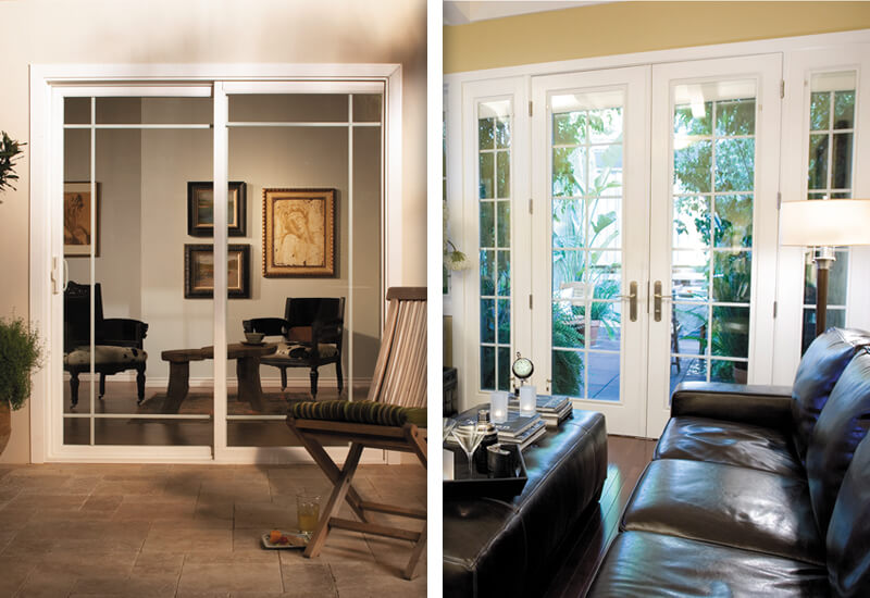 sliding glass door vs french door - Patio Doors French