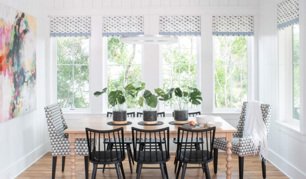 White kitchen windows with Low-E glass