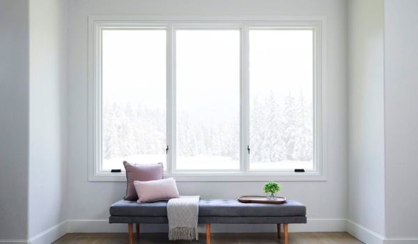 White Lifestyle Series window combination with unobstructed, energy-efficient glass