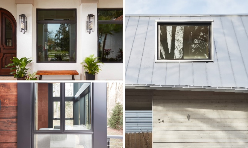Collage of windows highlighting features that boost curb appeal