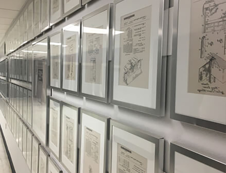 wall of patent plaques
