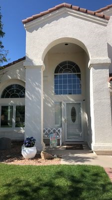 entryway with new fiberglass entry door replacement