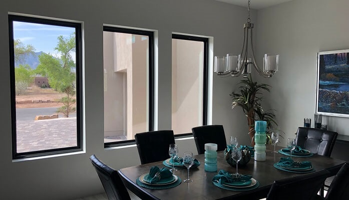 Bernalillo Contemporary Home Showcases Black Fiberglass Windows