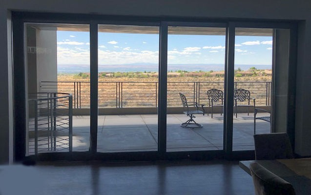 Desert View Out Albuquerque Multi Slide Patio Doors